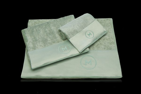 Ginevra bath towel set sage green