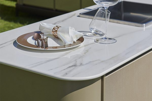 Ceramic Marble Countertop Detail