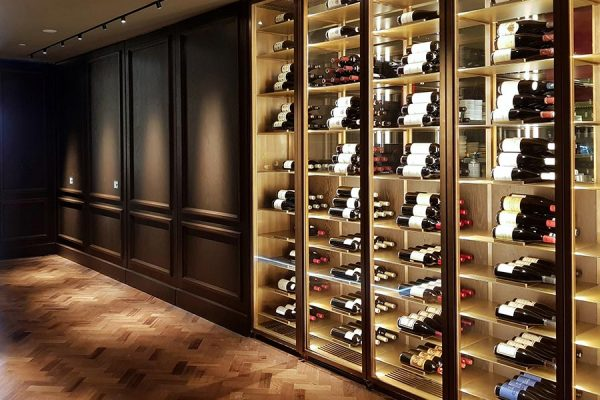 Eugenio Campo Tailoring Woodworking Boiserie e wine cellar